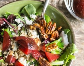 Roasted Beets, Greens & Grain Salad