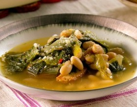 Escarole & Kale White Bean Soup