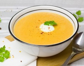 Carrot Red Lentil Soup